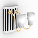 black and white wall lamp model