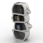 creative cup bookcase model
