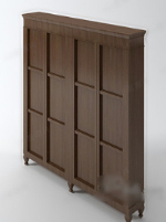 Brown wood cabinets 3d model