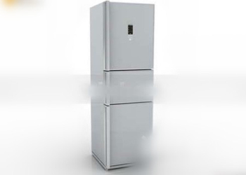 3d model double refrigerator