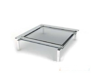 Transparent glass coffee table 3d model