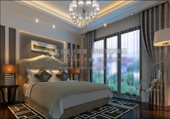 modern style bedroom 3d model