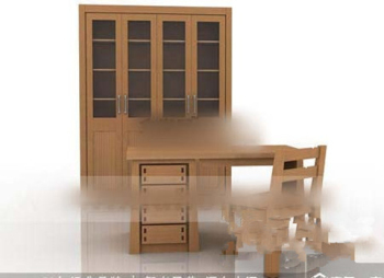 Library furniture combined model