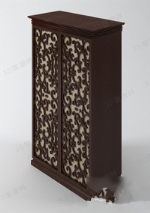 Exquisite carved wardrobe 3d model