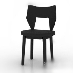 Dark wood chair 3d model