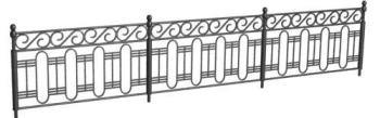 3d model park railings