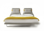 3d model of yellow and white bed
