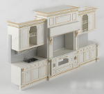 3d model of European-style cabinets