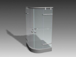 Common shower room 3d model