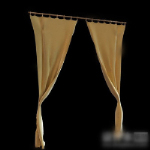 Simple model of a small window curtains