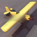 Yellow style 3d model aircraft