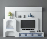 Milky elegant TV wall model