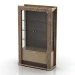 European glass cabinet