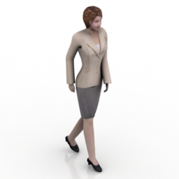 3d model of female white-collar workers