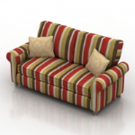 Colorful sofa 3d model