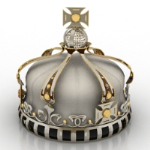 Ornate crown 3d model