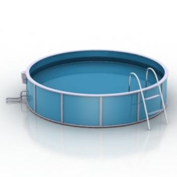 Round pool model 3d model download free 3d models download for 3d pool design software free download