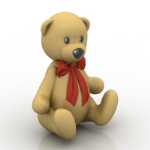 Teddy bear 3 d model