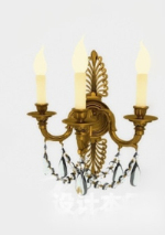 Brilliant golden chandelier 3d model