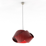 Uniquely shaped red chandelier model