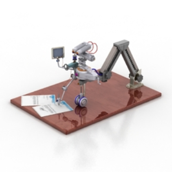 3d model of a simple robot 3D Model Download,Free 3D ...