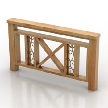 Wooden fence model