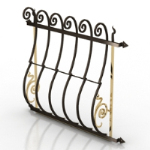 carved iron fence model