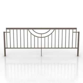 simple iron fence model