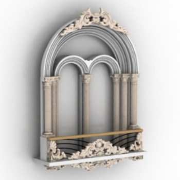 European castle windows 3d models
