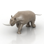 horned rhinoceros sculpture model