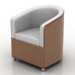 brown sofa chair 3d model