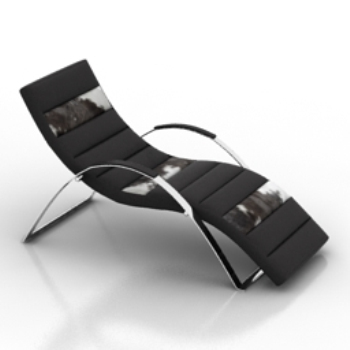 Metal loungers 3d models