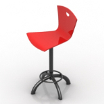 big red bar chair
