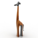 Giraffe sculpture model