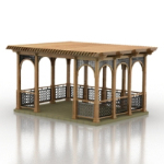 ancient pavilion model