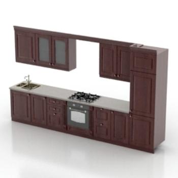 modern kitchen furniture model 3d model download free 3d
