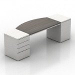 white wooden desk model