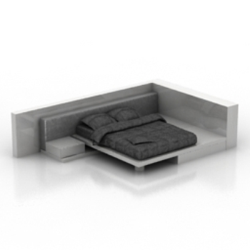 European black-colored bed model