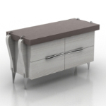 low-profile desk 3d model
