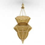 Bamboo-shaped chandelier model