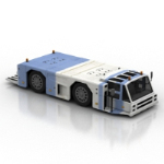 blue airport bus 3d models