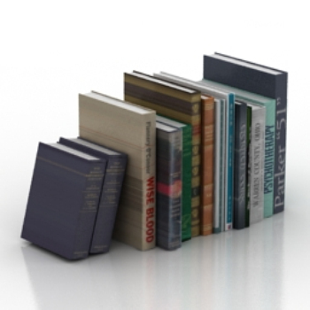 books neatly 3d model