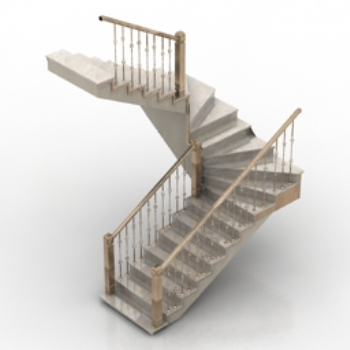 3d model staircase with handrails 3d model free 3d models