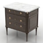 Classical nightstand model