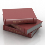 red hardcover book model
