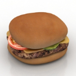 3d model of gourmet burgers