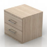 Simple wood bedside cabinet model