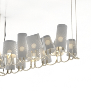 3d model portfolio chandeliers