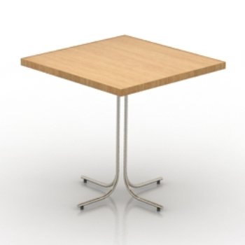 Simple square table 3d model