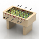 3d model of a desktop football